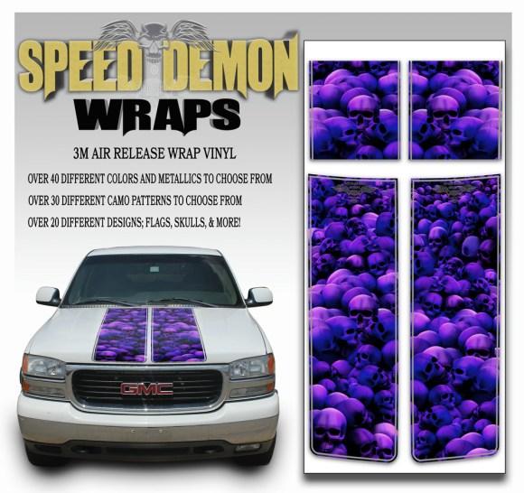 GMC Sierra Stripes Skulls Purple 2000-2006