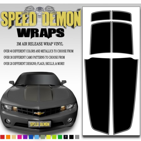 Camaro Stripes Black 2010-2011-2012-2013-2014-2015