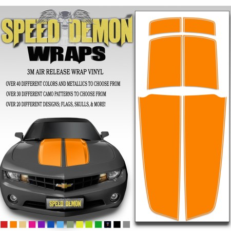 Camaro Stripes Orange 2010-2011-2012-2013-2014-2015