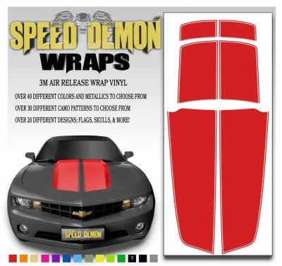Camaro Stripes Red 2010-2011-2012-2013-2014-2015