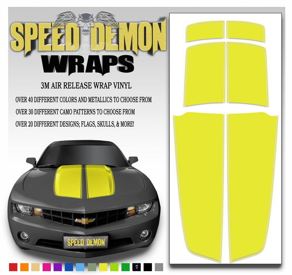 Camaro Stripes Yellow 2010-2011-2012-2013-2014-2015