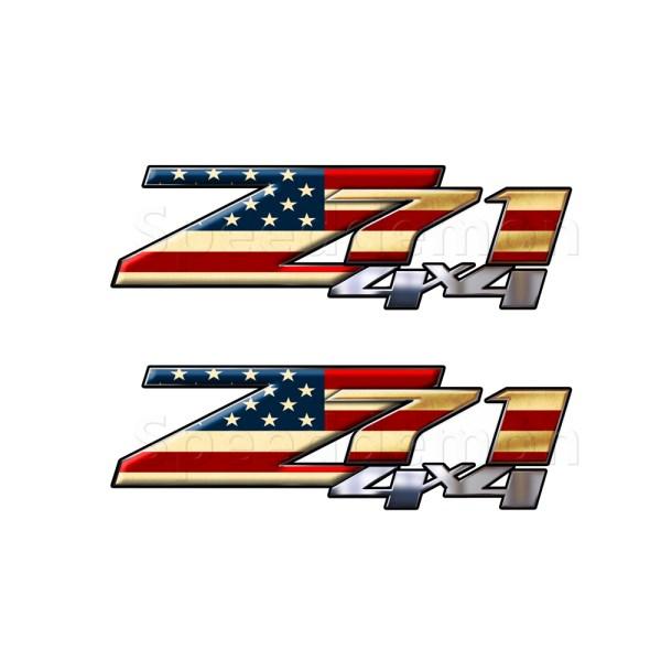 American Flag Z71 4x4