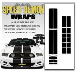 Mustang GT Stripes 2013-2014 Black
