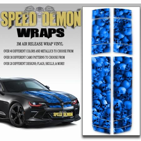 Skull Stripper V6 Camaro Stripes Blue 2016-2017-2018