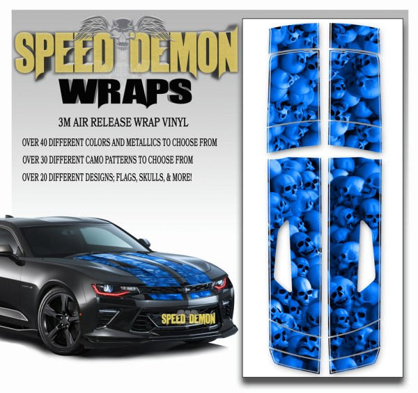Skull Stripper V8 Camaro Stripes Blue- 2016-2017-2018