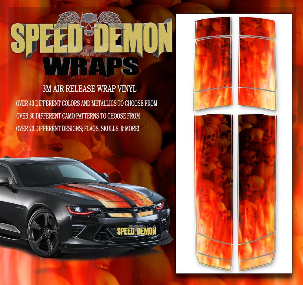 V6 Camaro Stripes Flames Skulls Inferno 2017