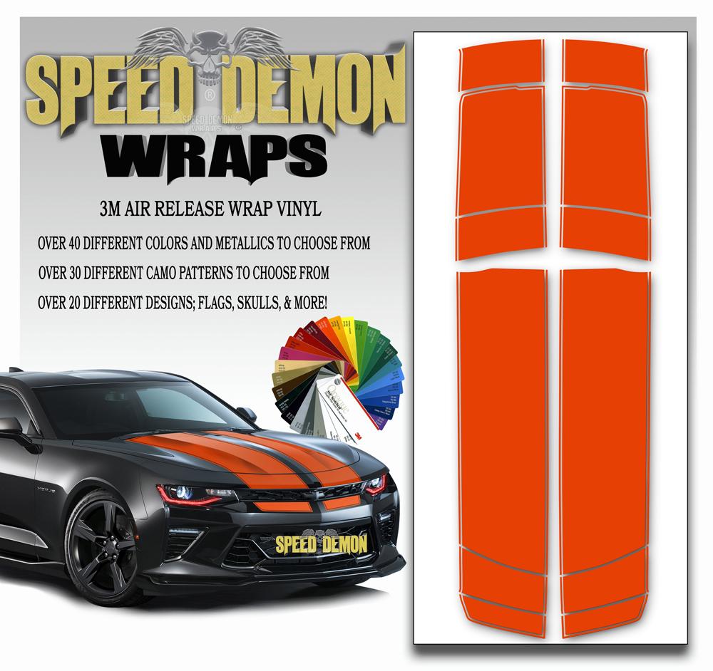 V6 Camaro Stripes Orange 2016-2017-2018