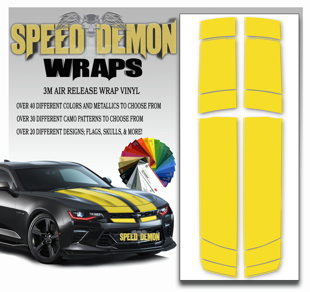 V6 Camaro Stripes Yellow 2016-2017-2018