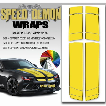Camaro Stripes Yellow 2016-2017-2018
