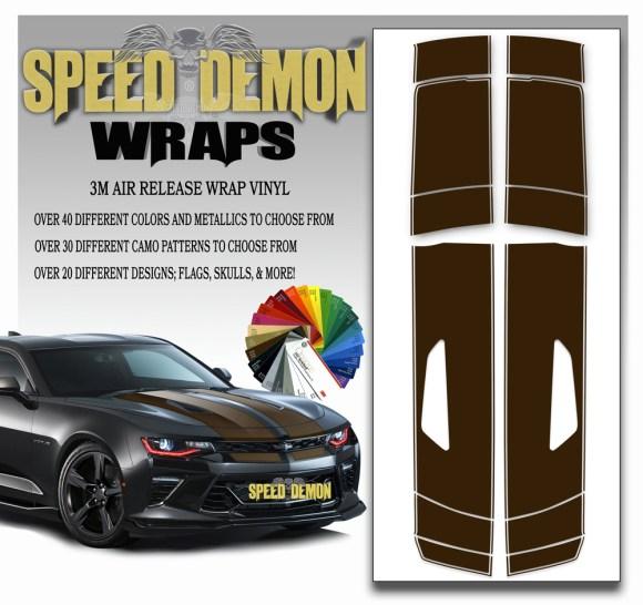 Camaro Stripes Brown 2016-2017-2018