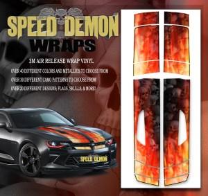 V8 Camaro Stripes Flames- Grey Skulls Inferno W BLK PS 2016-2017-2018