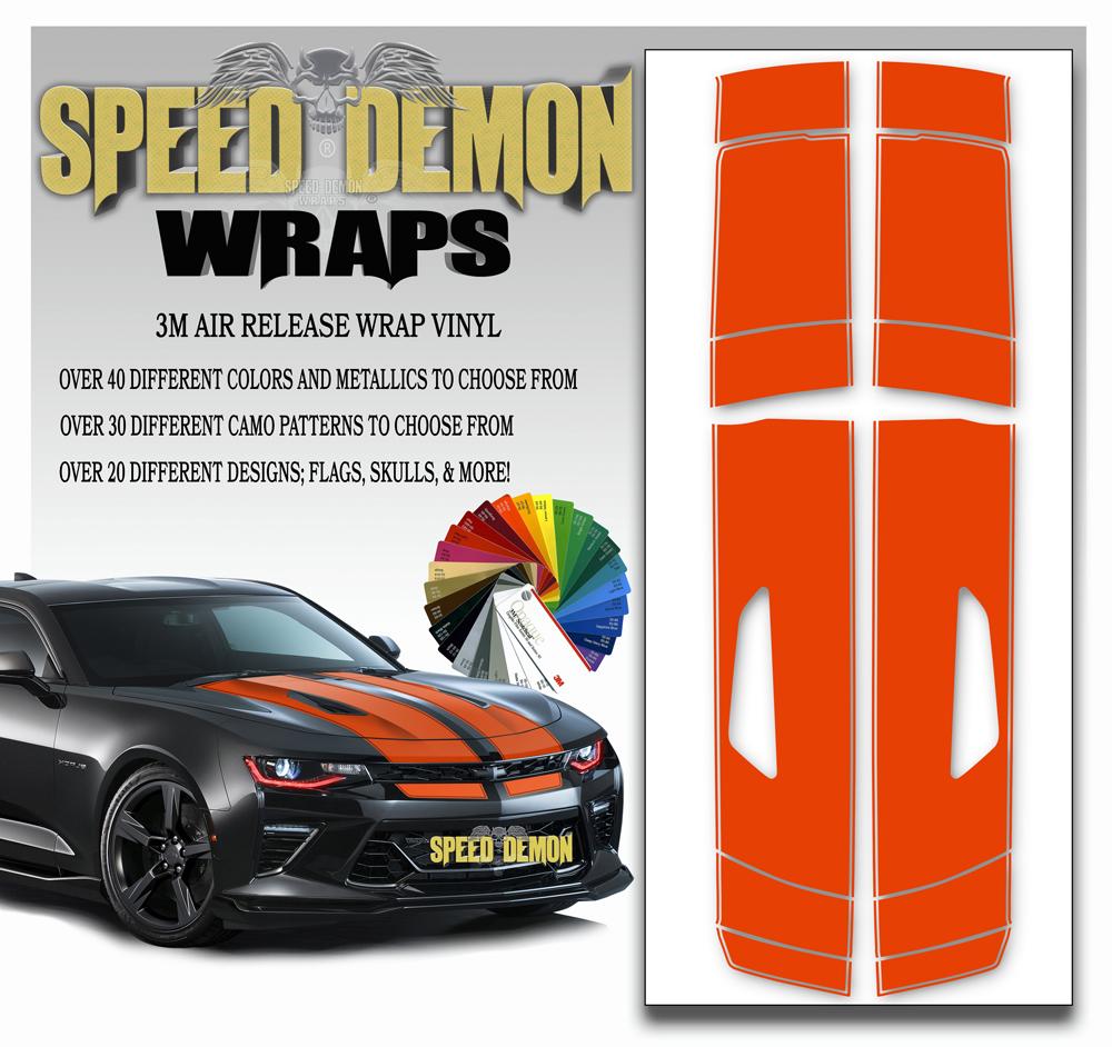 Camaro Stripes Orange 2016-2017-2018