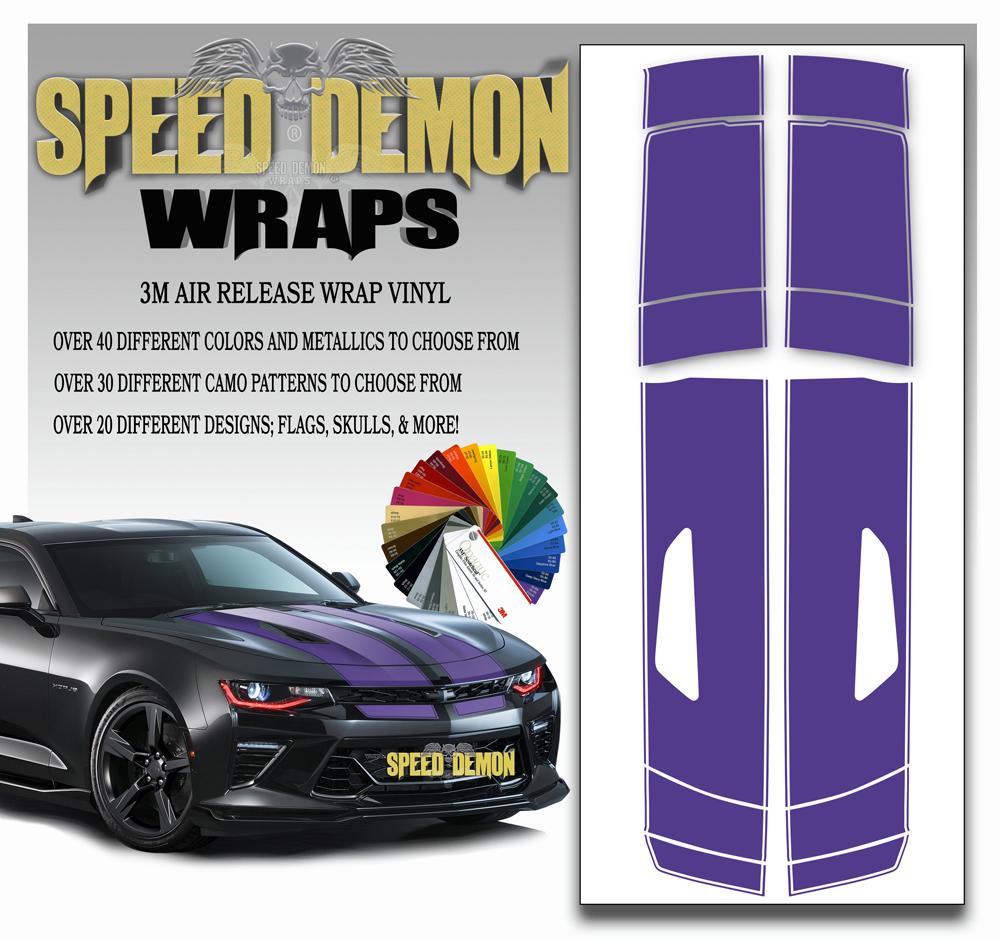 Camaro Racing Stripes Purple 2016-2017-2018