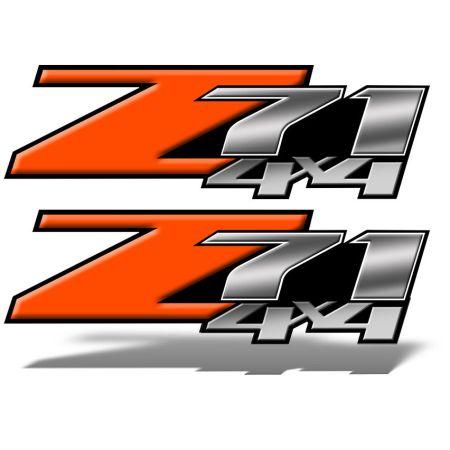 Z71 4x4 DECALS Orange
