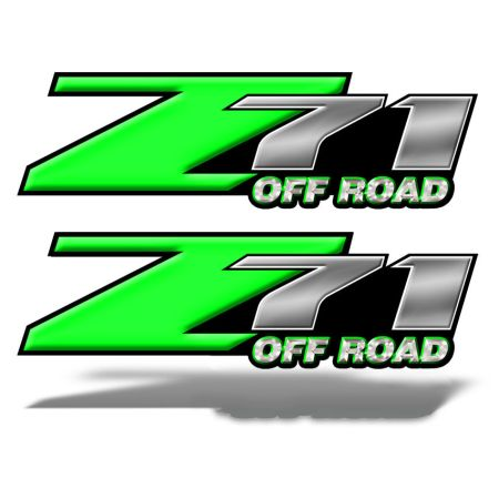 Z71 OFFROAD Decals Green