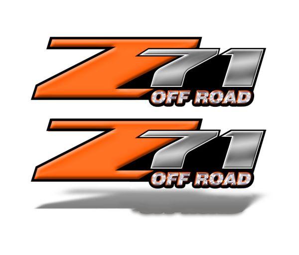 Z71 OFFROAD Decals Orange