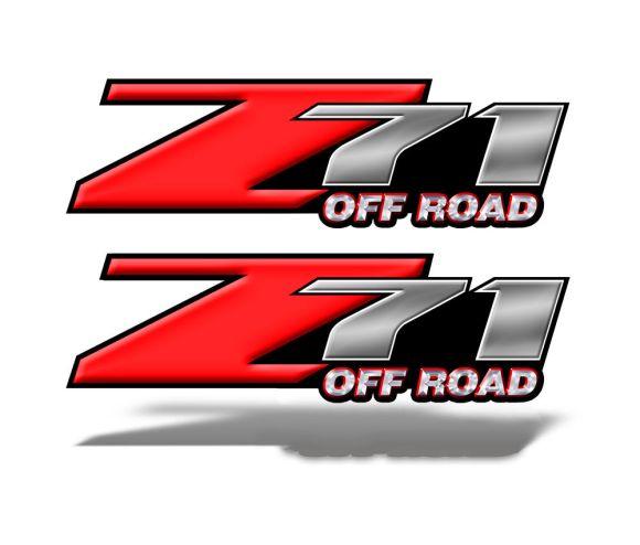 Z71 OFFROAD Decals Red