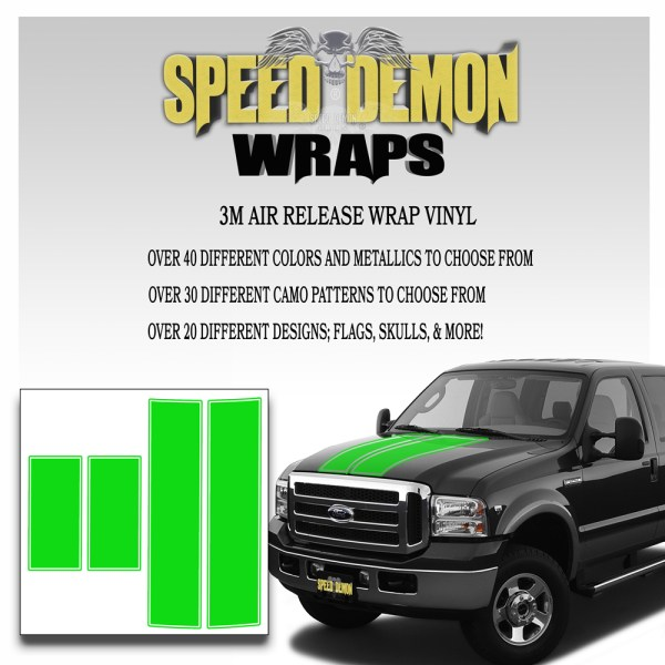 Ford F350 F250 Stripes Green 1999-2006
