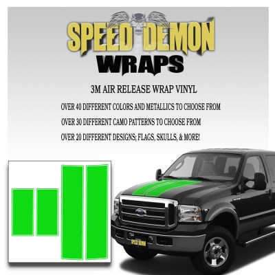 Ford F350 F250 Stripes Green 1999-20006