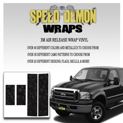 Ford F350-F250 Stripes Skulls Ghosted 1999-2006 7