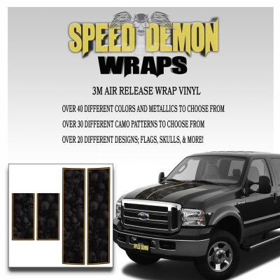 Ford F350-F250 Stripes Skulls Ghosted 1999-2006 5