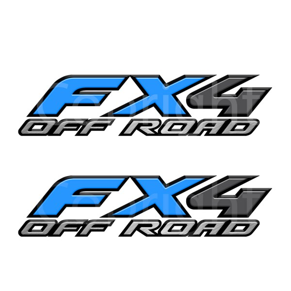 Fx4 Decals Blue
