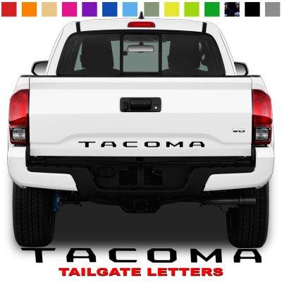 Toyota Tacoma Tailgate Lettering Black 1