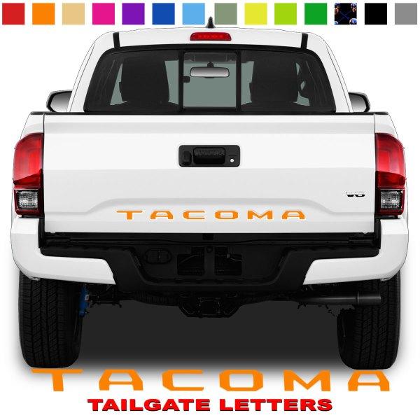 Toyota Tacoma Tailgate Lettering Orange