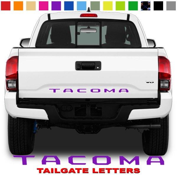 Toyota Tacoma Tailgate Lettering Purple
