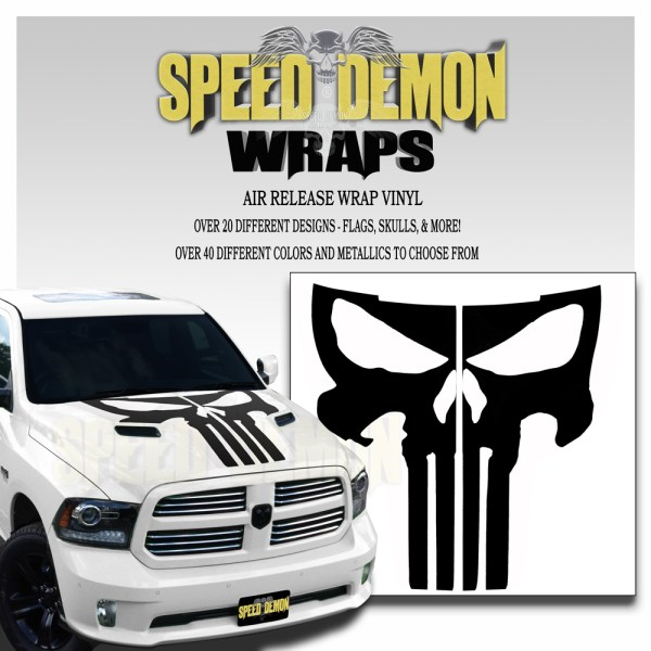 Dodge Ram Hood Punisher Decals
