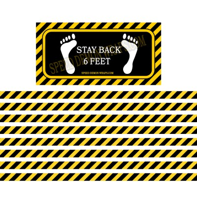 COVID 19 Stay Back 6 Feet Floor Decals System