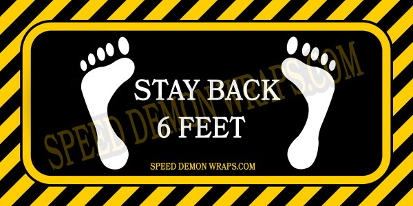 Covid-19 Stay Back 6 Feet Floor Decals