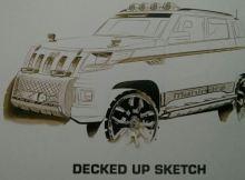 Mahindra TUV 300 sketch