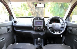 Renault Kwid Vs Maruti Suzuki Wagon R interior