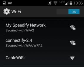 Speedify Network on Mobile Device