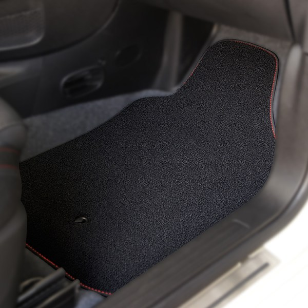 FIAT 500 Floor Mats by 500|SPEEDLAB Black with No Logo Passenger