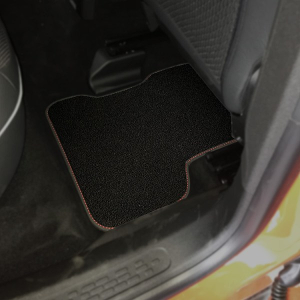 FIAT 500X Floor Mats by 500|SPEEDLAB Black Rear