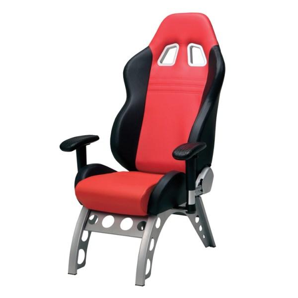 500|SPEEDLAB Pitstop Furniture GT Receiver Chair Red GT4000R