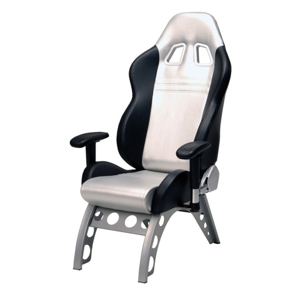500|SPEEDLAB PitStop GT Receiver Chair Silver GT4000S