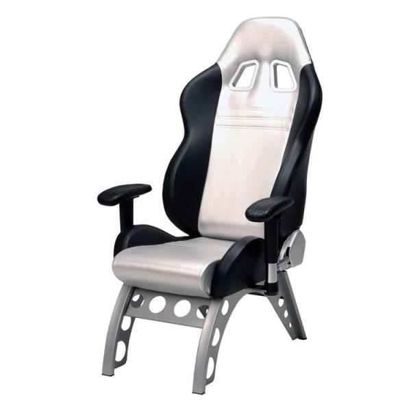 500|SPEEDLAB PitStop GT Receiver Chair Silver GT4000S