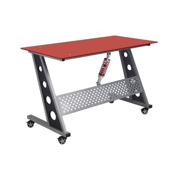 500|SPEEDLAB PitStop Furniture Compact Desk Red IND1200R