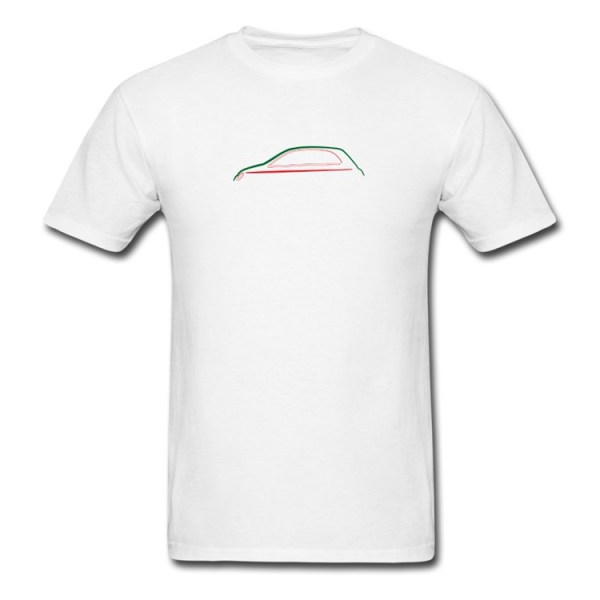 FIAT 500 Mens T-Shirt by 500|SPEEDLAB Men Red Silhouette
