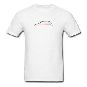 FIAT 500 Mens T-Shirt by 500|SPEEDLAB Men Red Silhouette