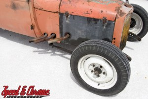 1932 Ford Coupe on the salt at Bonneville Utah