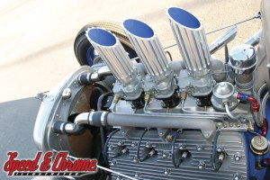 1934 Ford Truck Flathead Engine with Three Carbs