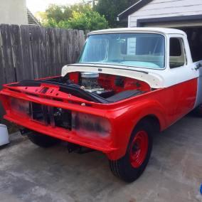 1962 Ford Unibody 3/4 ton longbed truck