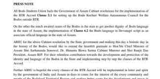 Cabinet resolutions for implementation of BTR Accord