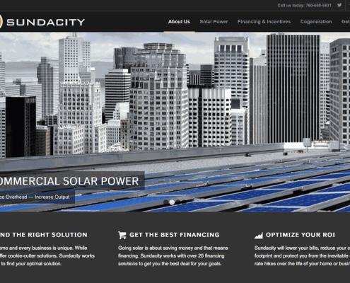 Sundacity.com homepage by Speed of Like