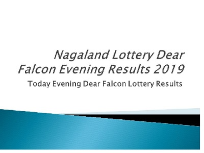 Nagaland Lottery Dear Falcon Results 08 08 2019 Released|Today