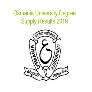 OU Degree Supply Results 2019-(Declared) OU 1st 2nd 3rd Year Osmania